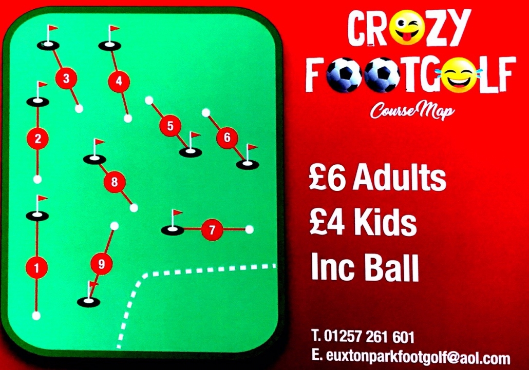 Crazy Foot Golf Scorecard
